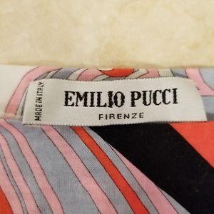 Emilio Pucci Cropped T-Shirt, Size 4
